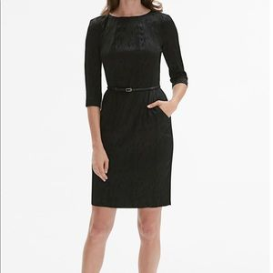 NWT MM Lafleur Etsuko Rosette Dress In Onyx Size 8